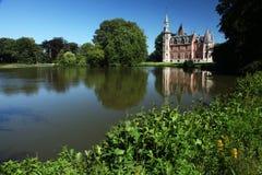 湖城堡富兰德比利时 库存图片