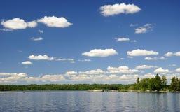 湖夏天瑞典 免版税库存图片