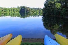 湖夏天 库存图片