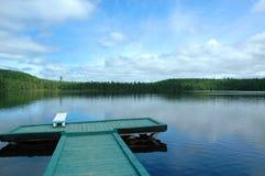 湖夏天 库存照片
