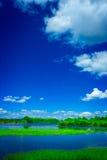 湖天空 免版税库存照片