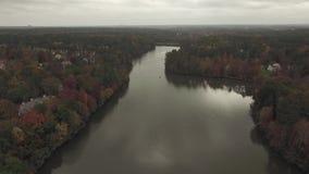 湖寄生虫空中录影在罗利, NC附近的 股票录像