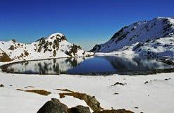 湖尼泊尔shiva 库存照片