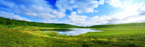 湖山北部pano 图库摄影
