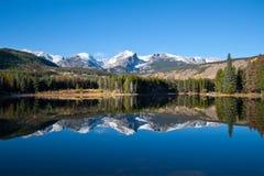 湖山国家公园岩石sprague视图 免版税库存照片