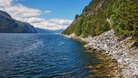 湖山挪威 库存照片