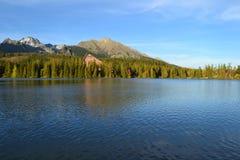 湖山村庄自然 库存图片