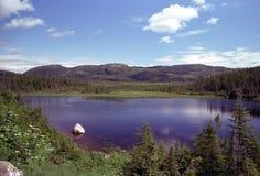 湖山纽芬兰 免版税图库摄影