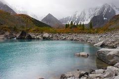 湖山绿松石 免版税库存照片