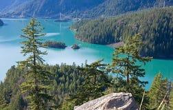 湖山震惊 库存图片