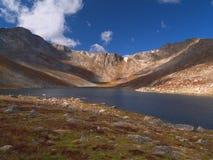 湖山顶 库存图片