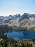 湖山 库存照片