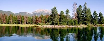 湖山panarama 库存照片