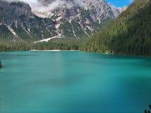 湖山pragser南部的提洛尔wildsee 库存图片