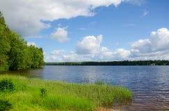 湖岸。 库存图片