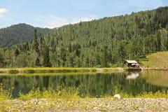 湖峡谷手段公园市犹他 免版税库存图片