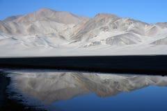 湖帕米尔计划 免版税库存照片