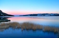 湖拉普兰 库存照片