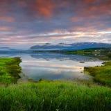 湖挪威 免版税库存图片