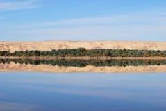 湖撒哈拉大沙漠盐 免版税库存照片