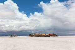 湖撒拉族de Uyuni,玻利维亚 免版税图库摄影