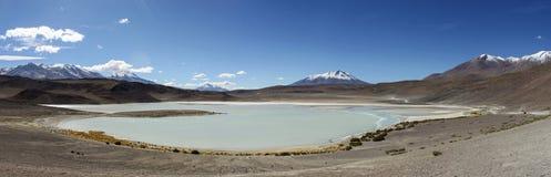 湖撒拉族de Uyuni 免版税库存照片