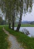 湖散步,达鲁瓦尔,克罗地亚 库存图片