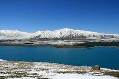 湖新的惊人的西兰 免版税库存图片