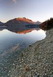 湖新的queenstown岩石wakatipu西兰 库存照片