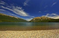湖新的rotoiti西兰 库存照片