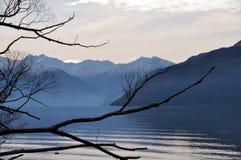 湖新的wanaka冬天西兰 库存图片