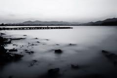 湖早晨 库存照片