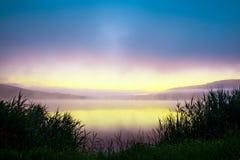 湖早晨 图库摄影