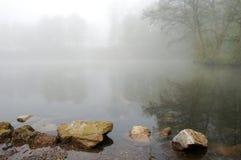 湖早晨 库存图片