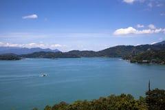 湖月亮星期日台湾 库存图片