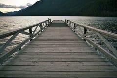 湖木头码头 图库摄影