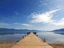 湖桥梁风景 库存图片