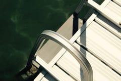 湖梯子 免版税库存图片