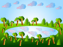 湖森林 库存图片