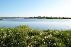 湖横向夏天 免版税图库摄影