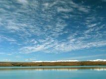 湖横向天空 免版税库存图片