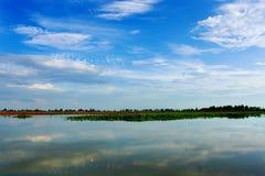 湖横向 免版税库存图片