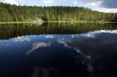 湖横向 免版税图库摄影