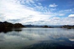湖横向 免版税库存照片
