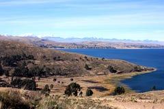 湖横向titicaca 库存照片