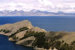 湖横向titicaca 图库摄影
