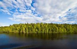 湖横向vygozero 免版税图库摄影