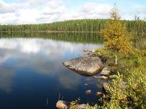 湖沉寂 库存照片