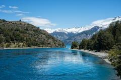 湖波特兰在智利 免版税库存图片