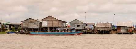 湖洞里萨湖,柬埔寨 免版税库存图片